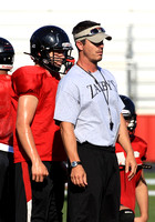 DLC_1044-Coach Jeremy Poole watching drills, Searcy